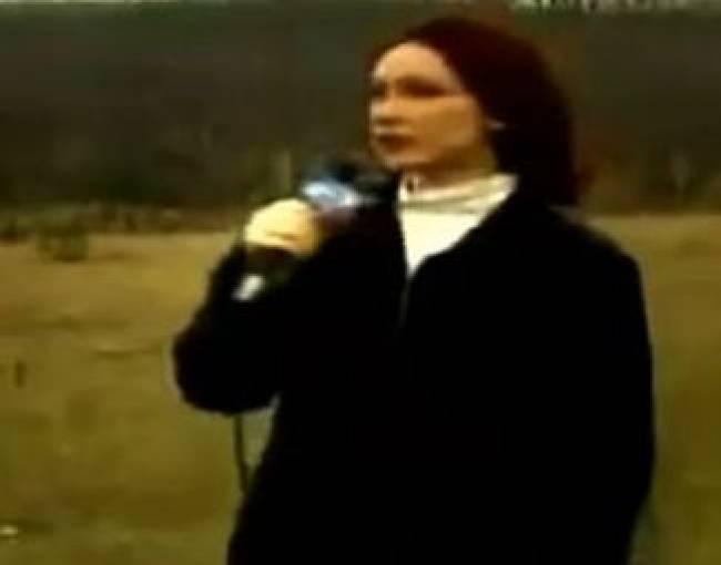 UFO την ώρα που δημοσιογράφος μιλούσε!!!