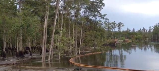 Τρύπα εμφανίζεται από το πουθενά και καταπίνει λίμνη!!!