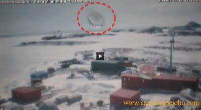 Τεράστιο UFO πάνω από τον Επιστημονικό Σταθμό Mawson στην Ανταρκτική.